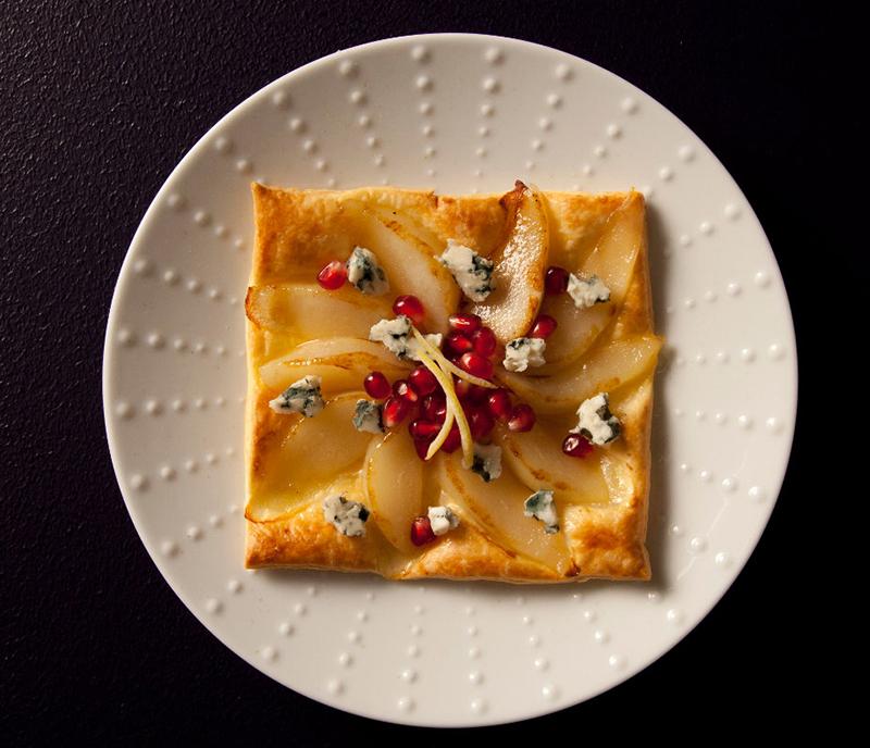 Tarta fina de pera y Roquefort DOP Société<sup class=simbolor>®</sup>